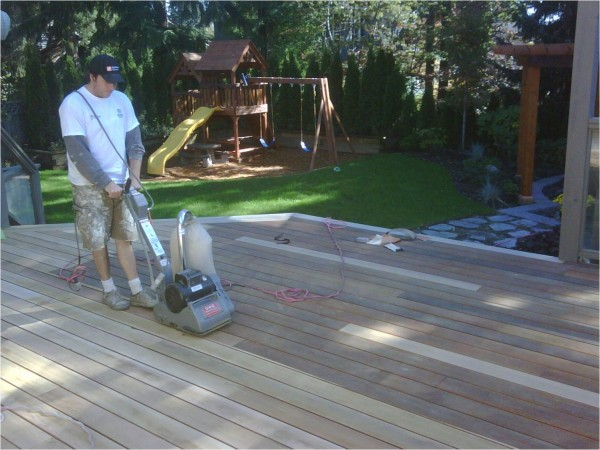 Sanding Deck Before Painting